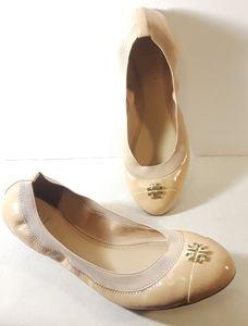 Tory Burch Cap Toe Nude Flats Ballet Shoes 11